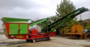 Equipo movil para la separacion del mineral de hierro o ferrico